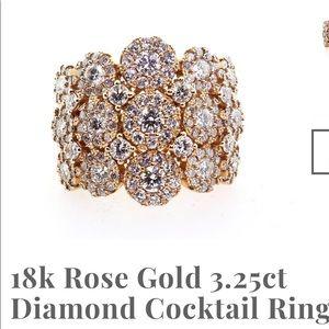 18k. Rose Gold Ring